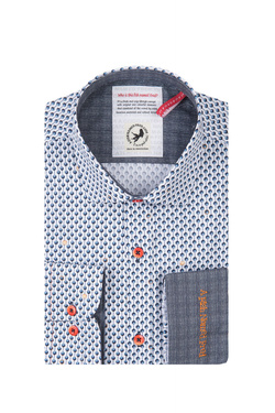 Chemise manches longues A FISH NAMED FRED 81.013 Blanc