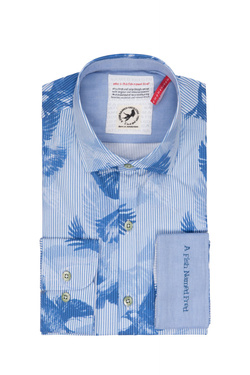 Chemise manches longues A FISH NAMED FRED 81.057 Bleu