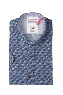 Chemise manches courtes A FISH NAMED FRED 81.071 Bleu