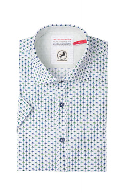 Chemise manches courtes A FISH NAMED FRED 81.087 Blanc