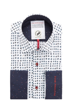Chemise manches longues A FISH NAMED FRED 83002 Blanc