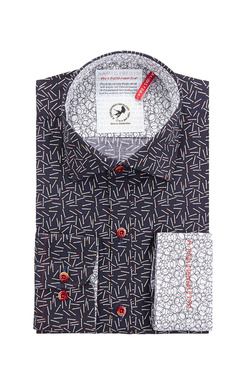 Chemise manches longues A FISH NAMED FRED 83005 Bleu marine