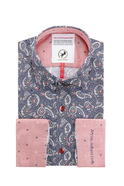 Chemise manches longues A FISH NAMED FRED 83053 Bleu marine