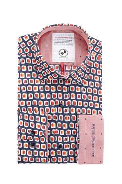 Chemise manches longues A FISH NAMED FRED 83052 Bleu marine