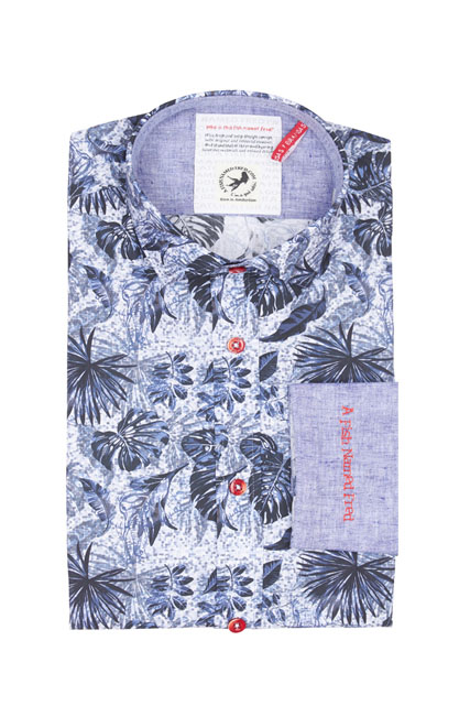 Chemise slim en coton stretch A FISH NAMED FRED