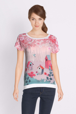 Tee-shirt ANATOPIK 18PHAPPY Rose pale