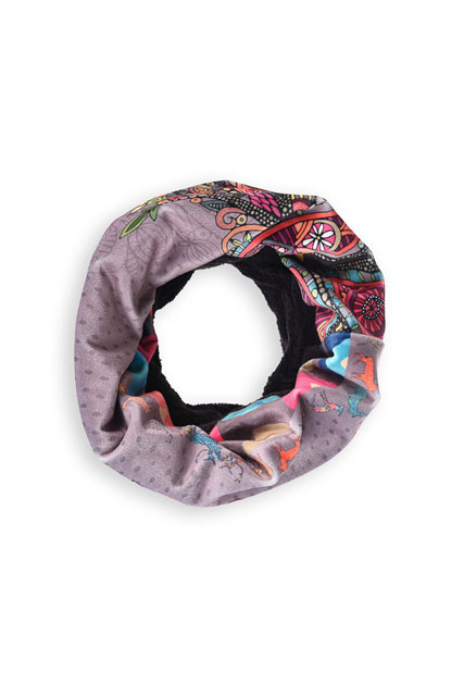 Écharpe snood en velours