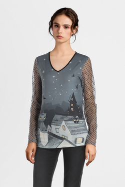 Tee-shirt manches longues ANATOPIK KELLY Gris