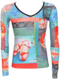 ANATOPIK Tee-shirt manches longues multicolore CASSIOPE