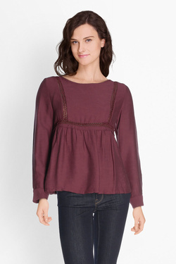 Blouse ANDY & LUCY FILOU Rouge bordeaux