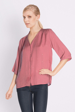Chemise manches longues ANDY & LUCY FIRMAMENT Rose