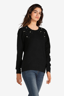Pull ANDY & LUCY POLKA Noir