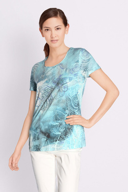 Tee-shirt BETTY BARCLAY 3879 2997 Bleu turquoise