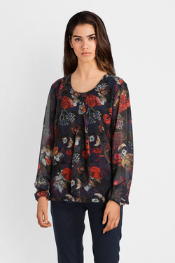 Blouse BETTY BARCLAY 6069 8135 Bleu marine