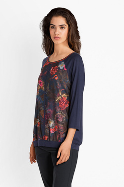 Tee-shirt manches longues BETTY BARCLAY 4839 0538 Bleu marine