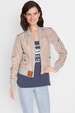 Blouson BOMBERS MA-1 COL GRIS Beige