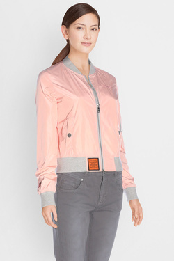 Blouson BOMBERS MA-1 COL GRIS Rose