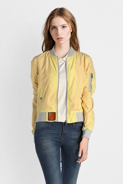 Blouson BOMBERS MA-1 COL GRIS Jaune