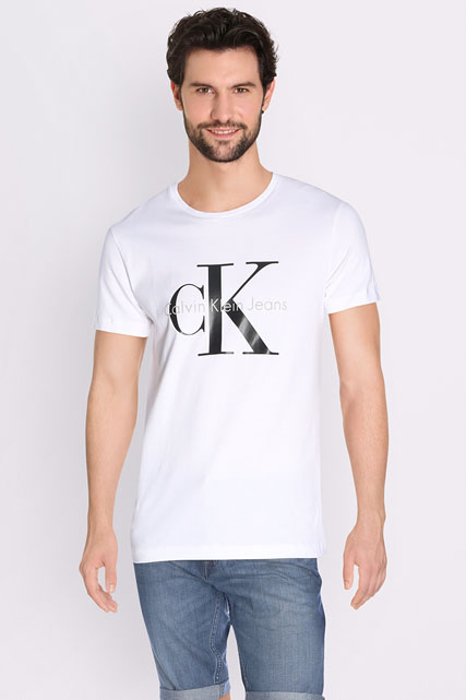 calvin klein tee shirt j30j302251 blanc homme des. Black Bedroom Furniture Sets. Home Design Ideas