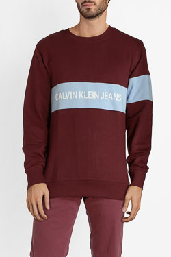 Sweat-shirt CALVIN KLEIN J30J309510 Rouge bordeaux