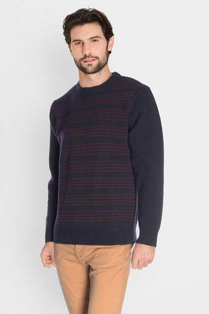 Pull fines rayures 80% lambswool