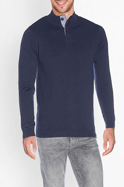 CAMBRIDGE - Pull49CG1PU100Bleu marine