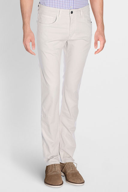 PANTALON DE DÉTENTE EN COTON STRETCH CAMBRIDGE
