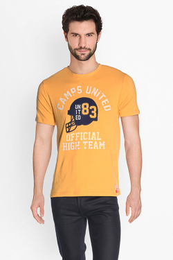 Tee-shirt CAMPS UNITED 50CP1TS067 Jaune