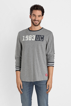 Tee-shirt manches longues CAMPS UNITED 52CP1TS110 Gris