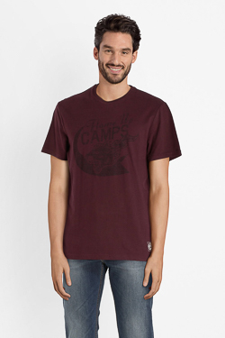 Tee-shirt CAMPS UNITED 52CP1TS104 Rouge bordeaux