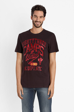 Tee-shirt CAMPS UNITED 52CP1TS111 Rouge bordeaux