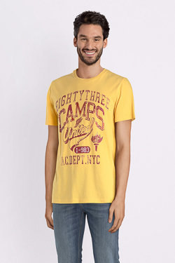 Tee-shirt CAMPS UNITED 52CP1TS111 Jaune moutarde