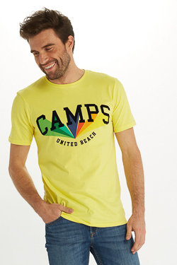 Tee-shirt CAMPS UNITED 53CP1TS108 Jaune