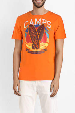Tee-shirt CAMPS UNITED 53CP1TS107 Orange