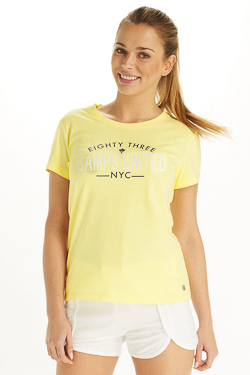 Tee-shirt CAMPS UNITED 53CP2TS312 Jaune