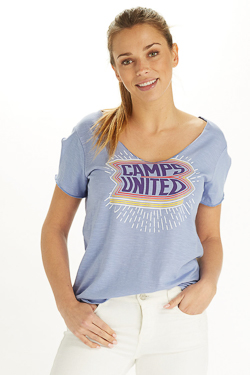 Tee-shirt CAMPS UNITED 53CP2TS309 Violet