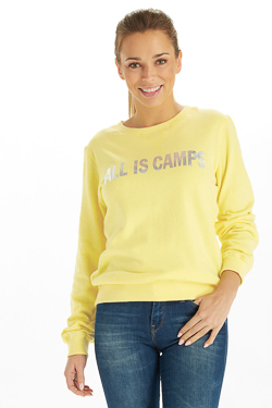 Sweat-shirt CAMPS UNITED 53CP2SW307 Jaune