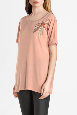 Tee-shirt CAMPS UNITED 54CP2TS302 Rose