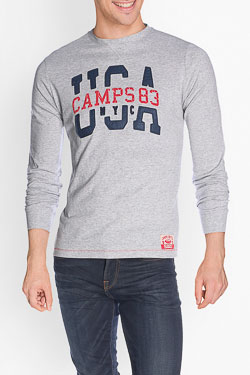 Tee-shirt manches longues CAMPS UNITED 50CP1TS071 Gris