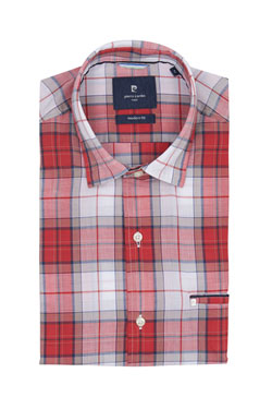Chemise manches courtes CARDIN 26730T53912 Rouge