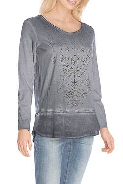 CECIL - Tee-shirt manches longues310764Gris