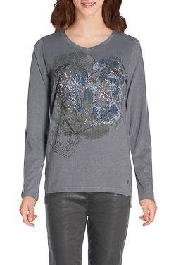 CECIL - Tee-shirt manches longues310772Gris