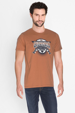 Tee-shirt CHEVIGNON EECTC009 Marron clair