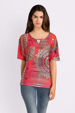 Tee-shirt CHRISTINE LAURE A2304 Rose fuchsia