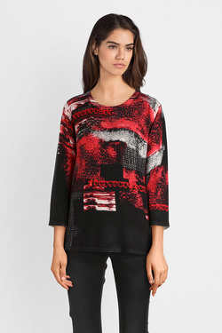 Pull CHRISTINE LAURE A4238 Rouge