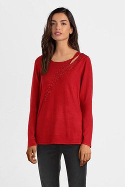 Pull CHRISTINE LAURE B2491 Rouge