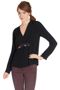 COLOR BLOCK - Blouse6216086Noir