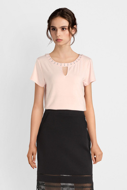 Tee-shirt COMMA 902.32.3395 Rose pale