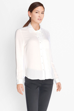 Chemise manches longues DDP F4WESSM7 Blanc