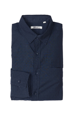 Chemise manches longues DEELUXE S18405MIDB Bleu marine